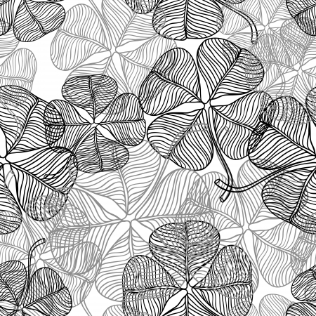 Vector illustration of abstract clover   Seamless Pattern  Vector