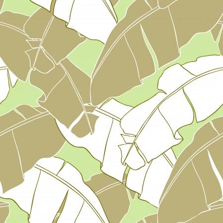 cicada:  leaves of palm tree  Seamless pattern