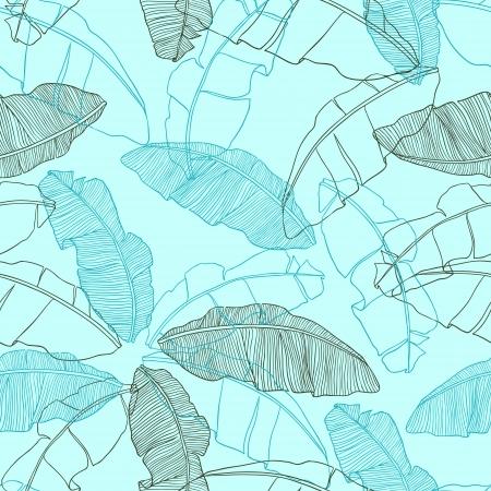 bladeren van palmboom Naadloos patroon