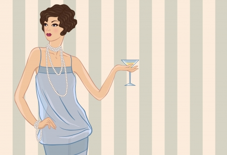 flapper: Retro party girl