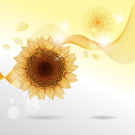 Yellow sunflowers flower element for design