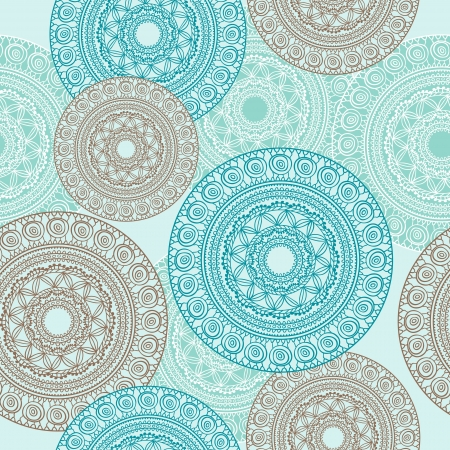 illustration   Seamless Pattern   Ornamental round lace  Vector
