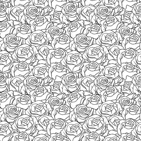 paper curl: Fondo floral con patr�n de rosas sin fisuras Vectores