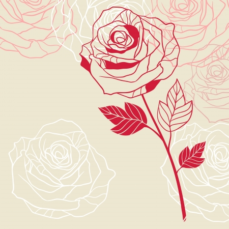 red rose: Floral background with pink roses