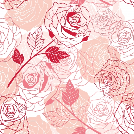 roses pattern: Floral background with roses seamless pattern