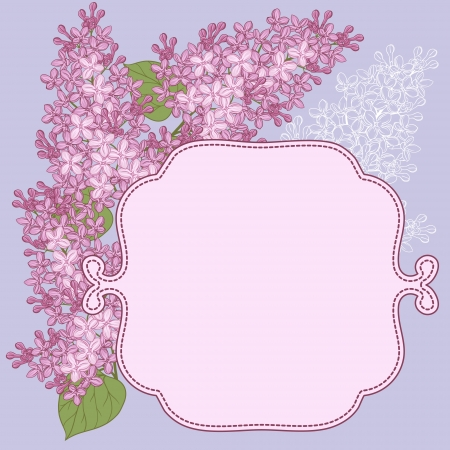 lea: background for design with flowers of lilac