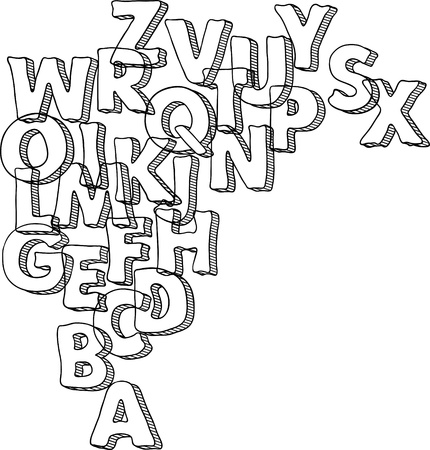 penman: Black bacground with letters of alphabet