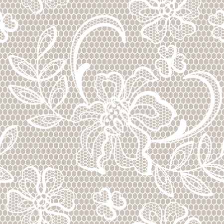 Old lace background, ornamental flowers texture  Illustration