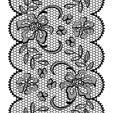 Old lace background, ornamental flowers texture  Vector