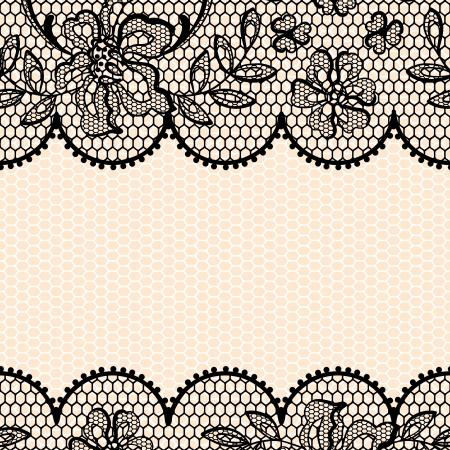 marco blanco y negro: Fondo de encaje antiguo, textura de la flor ornamental