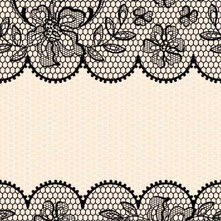 Old lace background, ornamental flower texture  Illustration