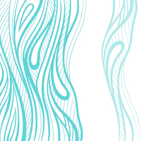 repeat structure: Abstract hand drawn illustration, decotative waves background