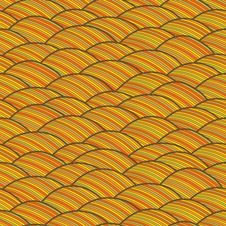 wild hair: Seamless abstract hand drawn pattern, waves background