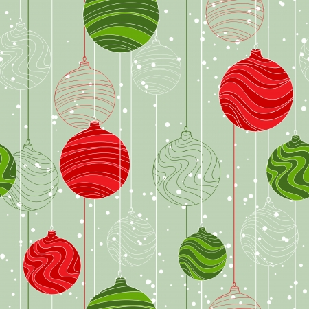 Retro elements for design Christmas balls seamless texture  Vector