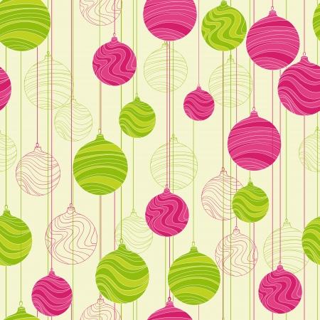 Retro elementen voor ontwerp kerstballen naadloze textuur Vector Illustratie