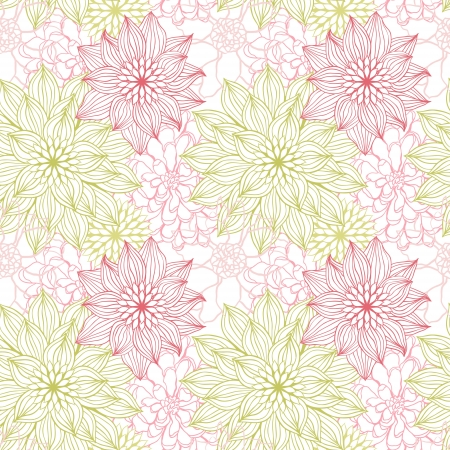 background with hand drawn flowers   Seamless Pattern Stock Vector - 13811960