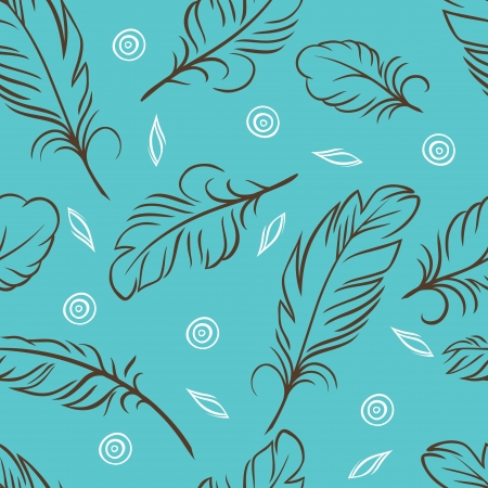 illustration  Seamless pattern of abstract feathers  Vector