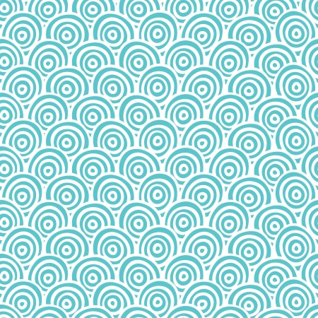 turquoise background: Seamless abstract hand drawn pattern