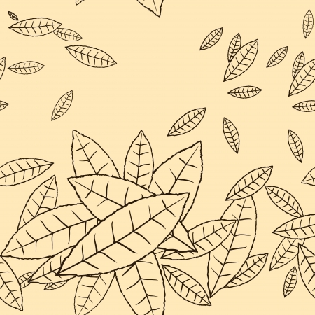 Pattern of fly leaves seamless background  Vector