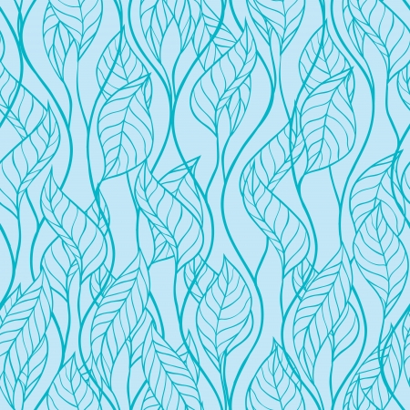 Abstract leaves seamless background  Vector