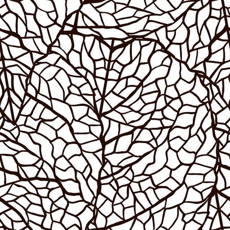 illustratie van bladeren Naadloze stijlvol patroon