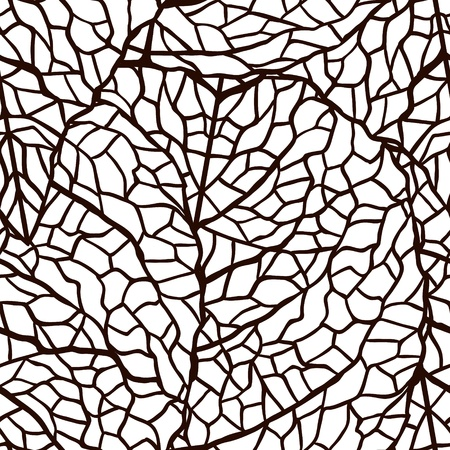 striped wallpaper: illustration of leaves   Seamless stylish pattern