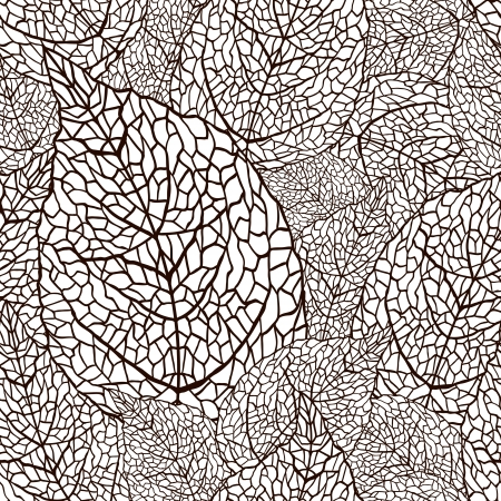 tiling: illustration of leaves   Seamless stylish pattern
