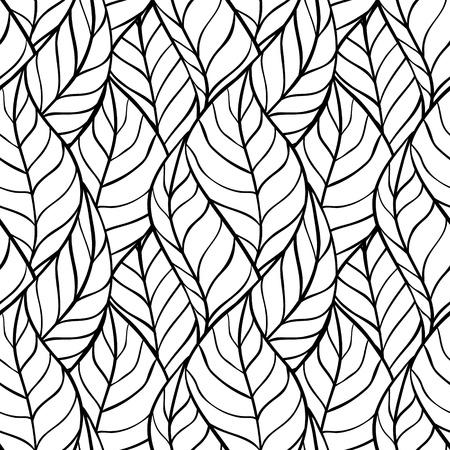 tegelwerk: illustratie van bladeren Seamless stijlvolle patroon Stock Illustratie