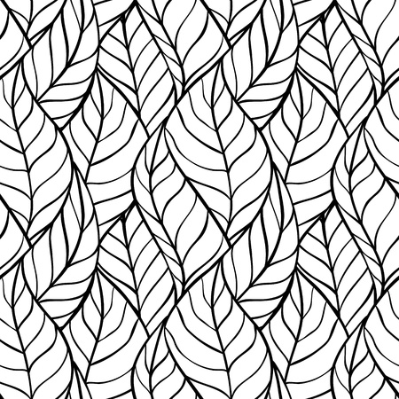 repeating pattern: illustration of leaves   Seamless stylish pattern