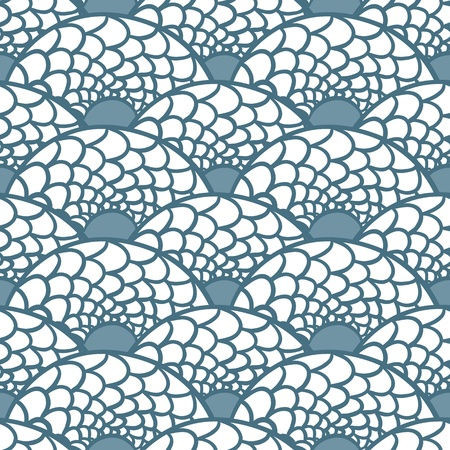 sea snake: Seamless abstract hand drawn pattern