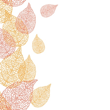 illustration of leaves   Seamless stylish pattern  Stock Vector - 13928031