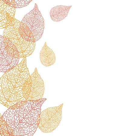 illustration of leaves Seamless stylish pattern Vektorové ilustrace