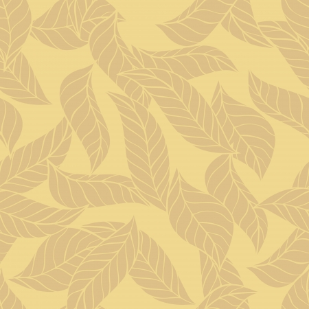 illustration of leaves   Seamless stylish pattern  Stock Vector - 13927647