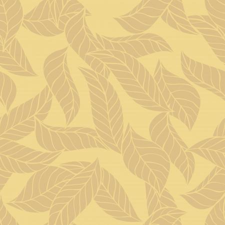 illustration of leaves   Seamless stylish pattern Stock Vector - 13927647