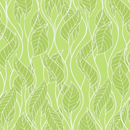 illustratie van bladeren Seamless stijlvolle patroon Stock Illustratie