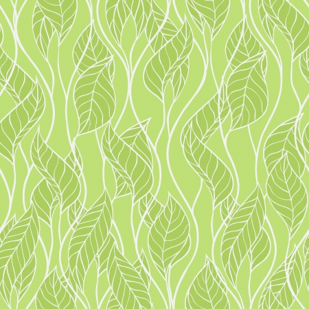 illustration of leaves Seamless stylish pattern Vector Illustration