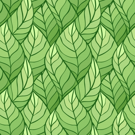 illustration of leaves   Seamless stylish pattern  Stock Vector - 13927639