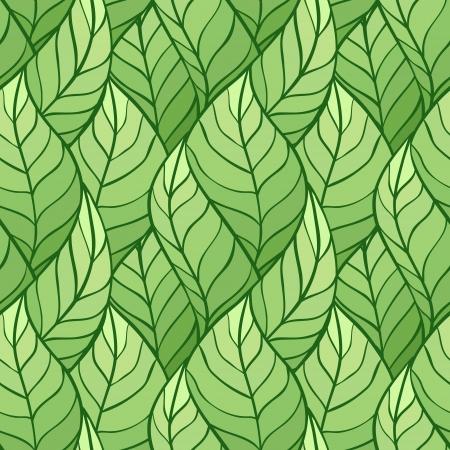 leaf pattern: illustration of leaves   Seamless stylish pattern