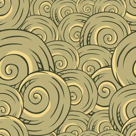 Seamless hand drawn texture of shells  Vector Illustration  Illustration