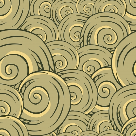 Seamless hand drawn texture of shells  Vector Illustration  Vector