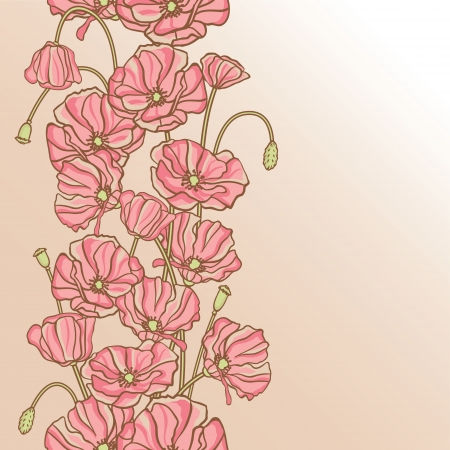 Vector background with hand drawn flowers   Seamless Pattern  Illustration
