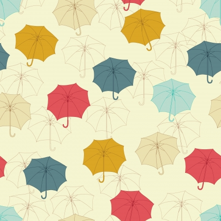Seamless pattern with cute umbrellas Stock Vector - 14153661