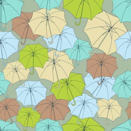 Seamless pattern with cute umbrellas  Stock Vector - 14153654