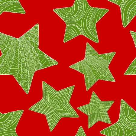 Abstract christmas background with stars Vector
