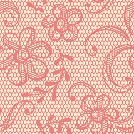 lace: Fondo antiguo de encaje, flores ornamentales textura vector