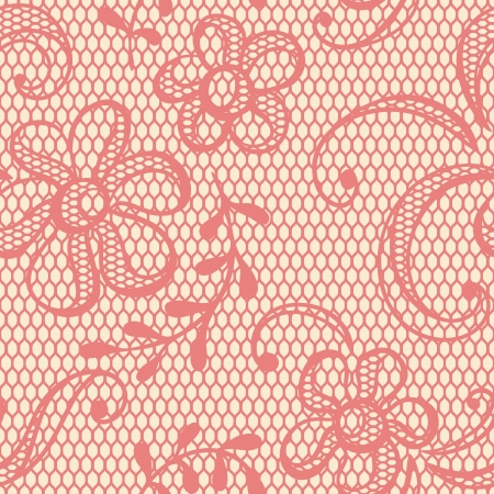Old lace background, ornamental flowers  Vector texture  Vector