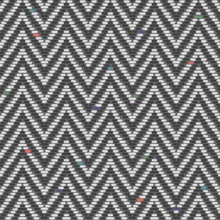 Herringbone Tweed pattern in greys repeats seamlessly  Illustration