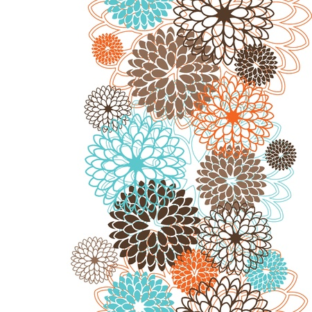 stylize: Seamless pattern with abstract flowers  Vector illustration