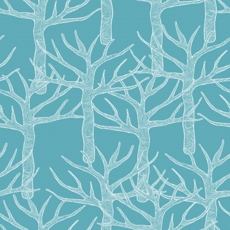 Decorative seamless pattern with trees  Vector illustration Stock Vector - 14388810