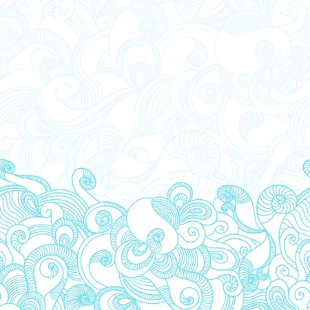 Seamless wave hand drawn pattern  Abstract background  Stock Vector - 14489110